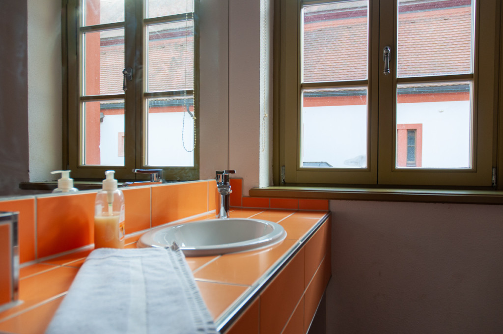 Badezimmer in den Gästehäusern St. Marienthal