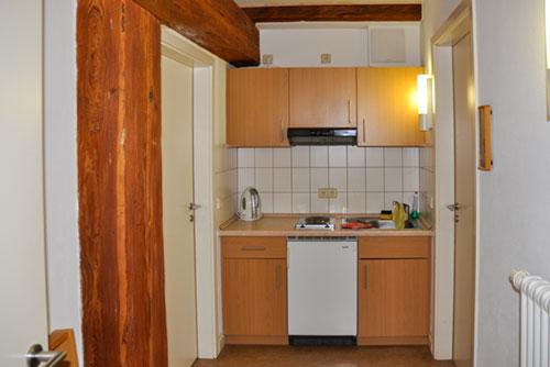 Küche im Appartement in St. Marienthal