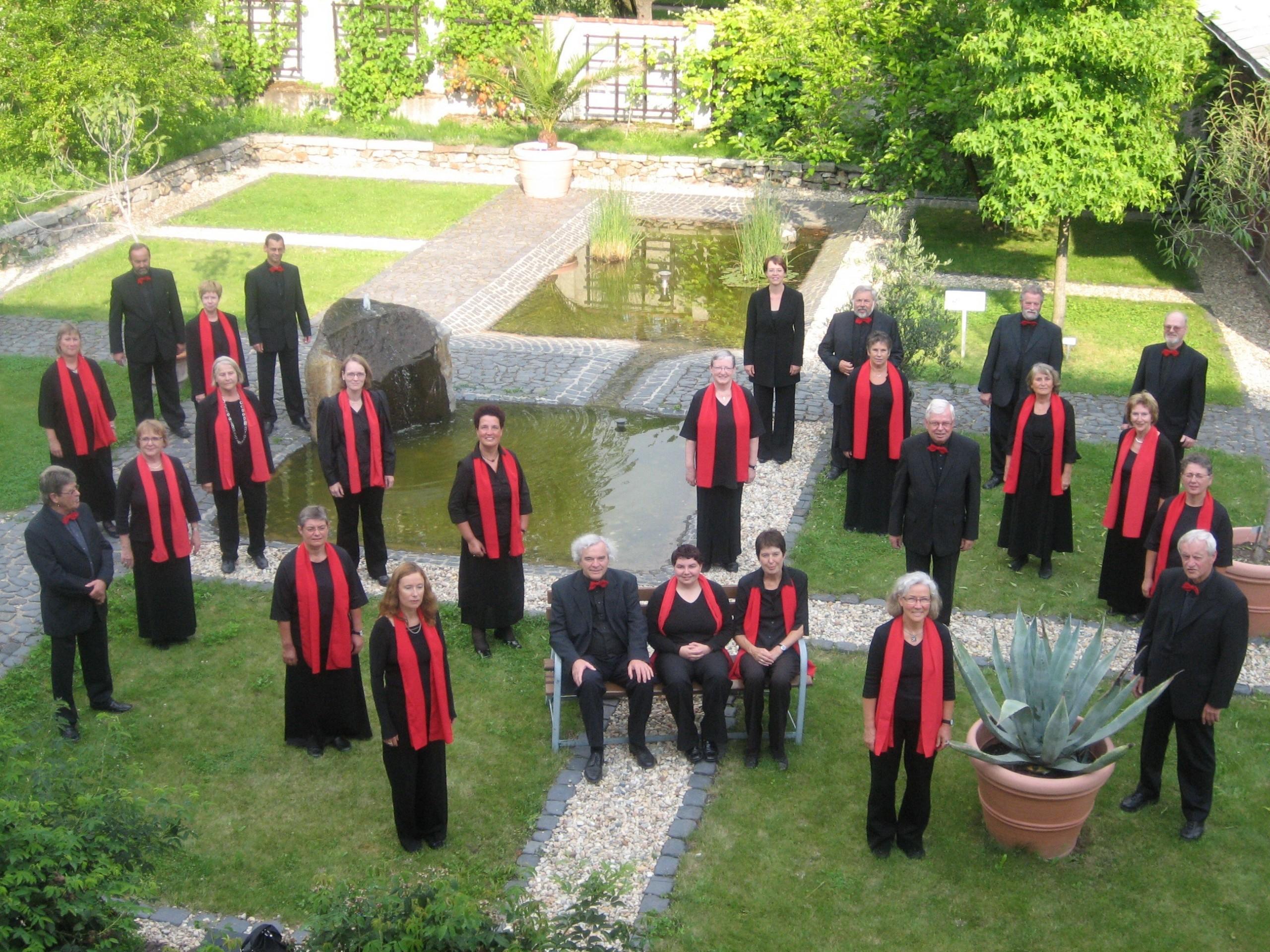 Chor im Garten der Bibelpflanzen in St. Marienthal